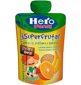 Hero Nanos Pouche naranja, plátano y galleta 100 g