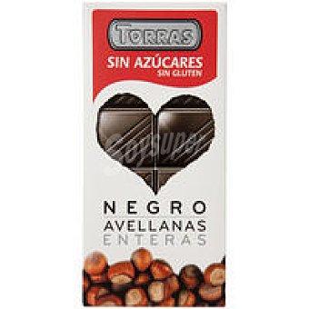 C. TORRAS Chocolate negro con avellanas s. azúcar Tableta 150 g