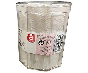 Actuel Caja con 150 palillos de madera envueltos en bolsa individual, acutel