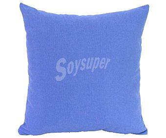 Auchan Funda de cojín color azul con cierre cremallera, 40x40 centímetros 1 unidad