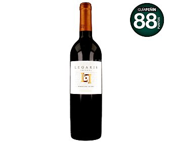 Legaris Vino tinto crianza, fino y cabernet sauvignon con denominación de origen Ribera del Duero Botella de 75 centilitros