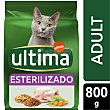 Esterilizado Adult pienso para gatos adultos esterilizados con pollo Envase 800 g Ultima Affinity