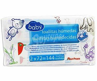 Auchan Toallitas para bebé Pack de 72 unidades