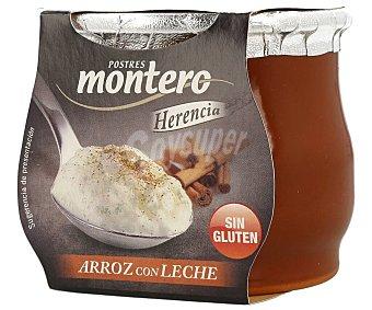 Postres Montero Arroz con leche elaborado sin gluten 140 g