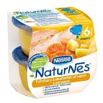 Naturnes Nestlé Tarrina de patatas-pavo Pack 2x200 g