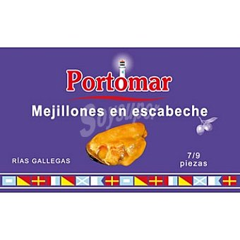 PORTOMAR SERIE NAUTICA Mejillones en escabeche de las rías gallegas 7-9 piezas Lata 68 g