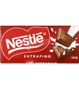 Nestlé Chocolate con leche extrafino Pack de 8 tableta