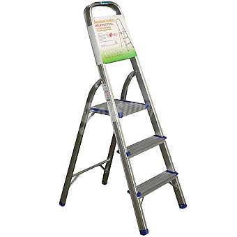 Hipercor R16603 escalera de aluminio con 3 peldaños
