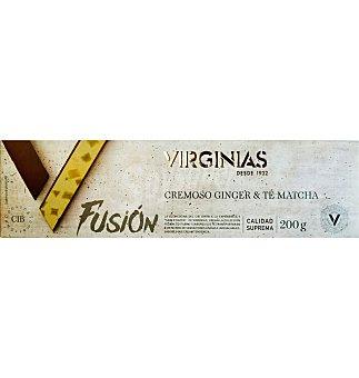 Virginias Turrón crema ginger & té matcha 200 g