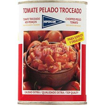 Hipercor Tomate pelado troceado extra Lata 410 g neto escurrido