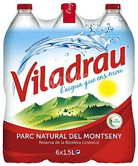 Viladrau Nestlé Agua mineral natural Pack 6 x 1.5 litros