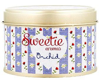 AMBIENT AIR Vela en lata perfumada con olor a Orquídea, Sweetie aromas 1 unidad