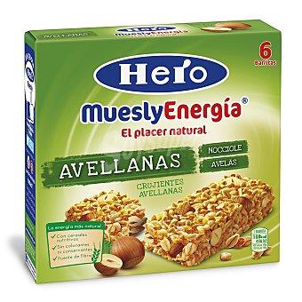 Hero Barritas 7 Cereales Avellana muesly energía de 6 unidades de 25 Gramos