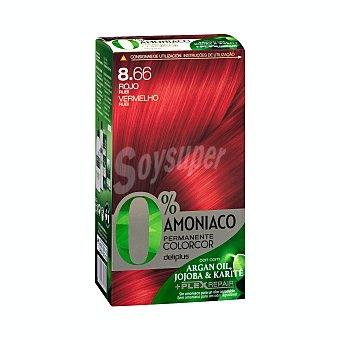 Deliplus Tinte coloracion permanente 0% amoniaco Nº 8.66 rojo pasion U