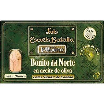 Lobueno Bonito del norte en aceite de oliva Lata 80 g neto escurrido