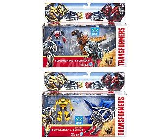 TRANSFORMERS Pack de 2 Figuras Artículadas Transformables Legión, 6 Centímetros 1 Unidad