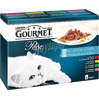 Finas láminas en salsa para gatos Pack 8 bolsa 85 g