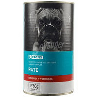 Eroski Friends Alimento para perros con buey Lata 1,23 kg