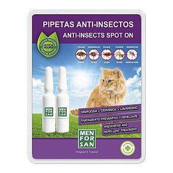 Menforsan Pipetas anti-insectos para gatos envase 2 unidades