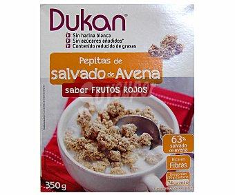 DUKAN Pepitas crujientes de salvado de avena sabor frutos rojos con edulcorante 350 gramos