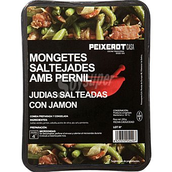 PEIXEROT Judías verdes salteadas con jamón Bandeja 220 g