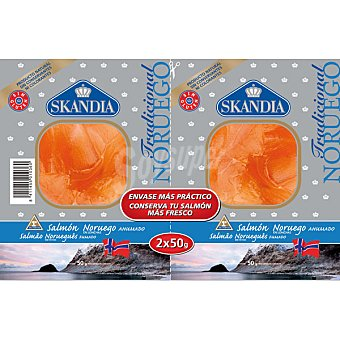 Skandia Salmón ahumado sin gluten Pack 2 envases 50 g