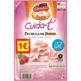Campofrío Pechuga de pollo en lonchas bajo en grasa sin lactosa sin gluten Cuida-t envase 100 g