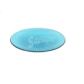 Home Style Plato Postre Acrílico Poliestileno Dots 18 cm Azul 1 ud