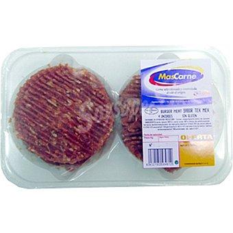MASCARNE Mixta (vacuno-cerdo) sabor Tex-Mex 2 unidades bandeja 360 g 2 unidades