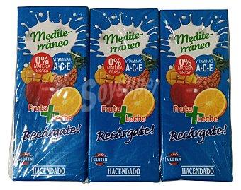 Hacendado Frutas+leche mediterraneo (brick azul) 6 x 200 cc
