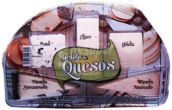 FORVAL Tabla de quesos selectos (Azul, Edam, Gouda, Mezcla semicurado y cabra)  Paquete de 200 g