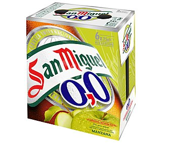 San Miguel Cerveza Sin Alcohol Manzana 0,0 6x25cl