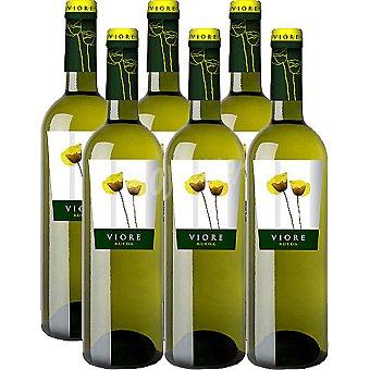 VIORE Vino blanco D.O. Rueda caja 6 botellas 75 cl