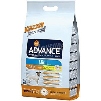 Advance Affinity Alimento de alta gama para perros adultos y raza pequeña rico en pollo y arroz Mini Adult Bolsa 3 kg