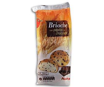 Auchan Brioche Con Pepitas de Chocolate Paquete 240 Gramos (6 Unidades)