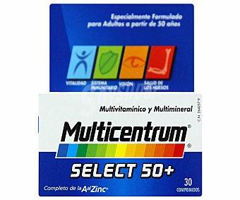 MULTICENTRUM Select Complemento alimenticio con vitaminas, minerales y luteína, para adultos a partir de 50 años 30 Comprimidos