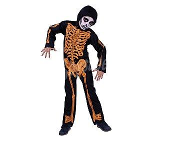 HAUNTED HOUSE Disfraz infantil Esqueleto con huesos naranjas, talla pequeña S, de 5 a 7 años Esqueleto huesos T. S
