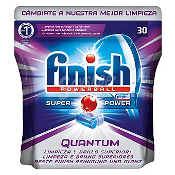 Finish Lavavajillas máquina quantum 30 pastillas