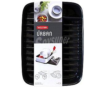 Curver Escurreplatos con bandeja extraíble, 40x30x10 centímetros, modelo Urban 1 Unidad