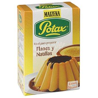 POTAX MAIZENA Potax preparado flan o natillas 6 sobres para 24 flanes, estuche 192