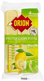 Orion Pinza antipolillas perfume limón 2 ud