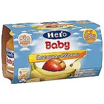 Hero Baby Tarrito de manzana-plátano Pack 2x130 g
