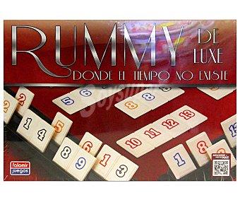 FALOMIR JUEGOS Juego de mesa Rummy Deluxe, incluye 4 soportes y 106 fichas, de 2 a 4 jugadores 1 unidad