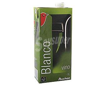 Auchan Vino blanco Brik de 1 litro