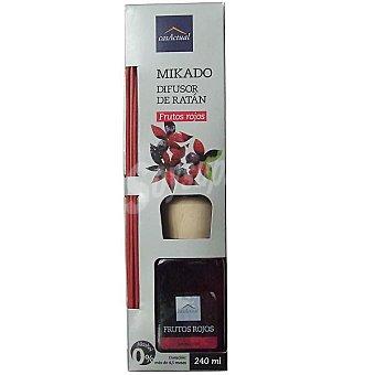 CASACTUAL Mikado Ambientador en varillas aromáticas Frutos rojos 240 ml