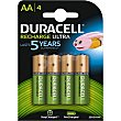 Pila recargable Active Charge AA (hr6 dx1500) blister  4 unidades Duracell