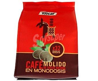 Toscaf Café natural monodosis 32 Unidades