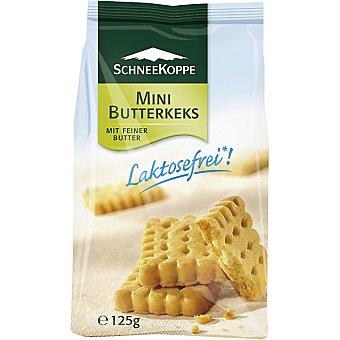 SCHNEEKOPPE mini galletas de mantequilla sin lactosa envase 125 g