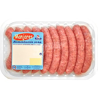 PUJANTE Salchicha extra de pollo 10 unidades bandeja 400 g 10 unidades