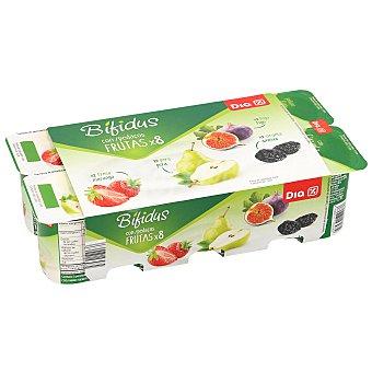 DIA Bífidus de higo pera y ciruela Pack 8 unidades 125 gr